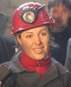 Наталья Королевская дважды побывала в шахте.