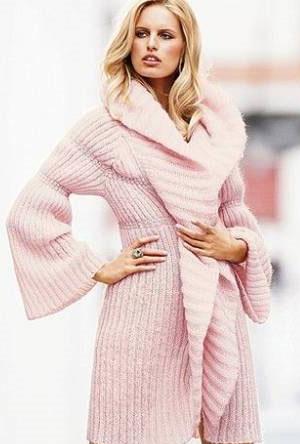 Вязаное пальто кардиган, модели с описанием.  Охвачен широкий диапазон...