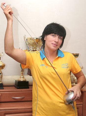 Алла Горлина - чемпионка Украины в шпаге и обладатель лицензии на Паралимпиаду в Лондоне