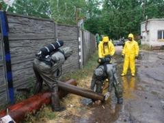 На пункте приема металлолома на улице Золотой в Львове вчера, 15 мая, разгерметизировался баллон с хлором.