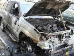"""В Волгограде сгорел внедорожник  """"Тойота-Ленд Крузер """": замыкание электропроводки или очередной поджог?"""